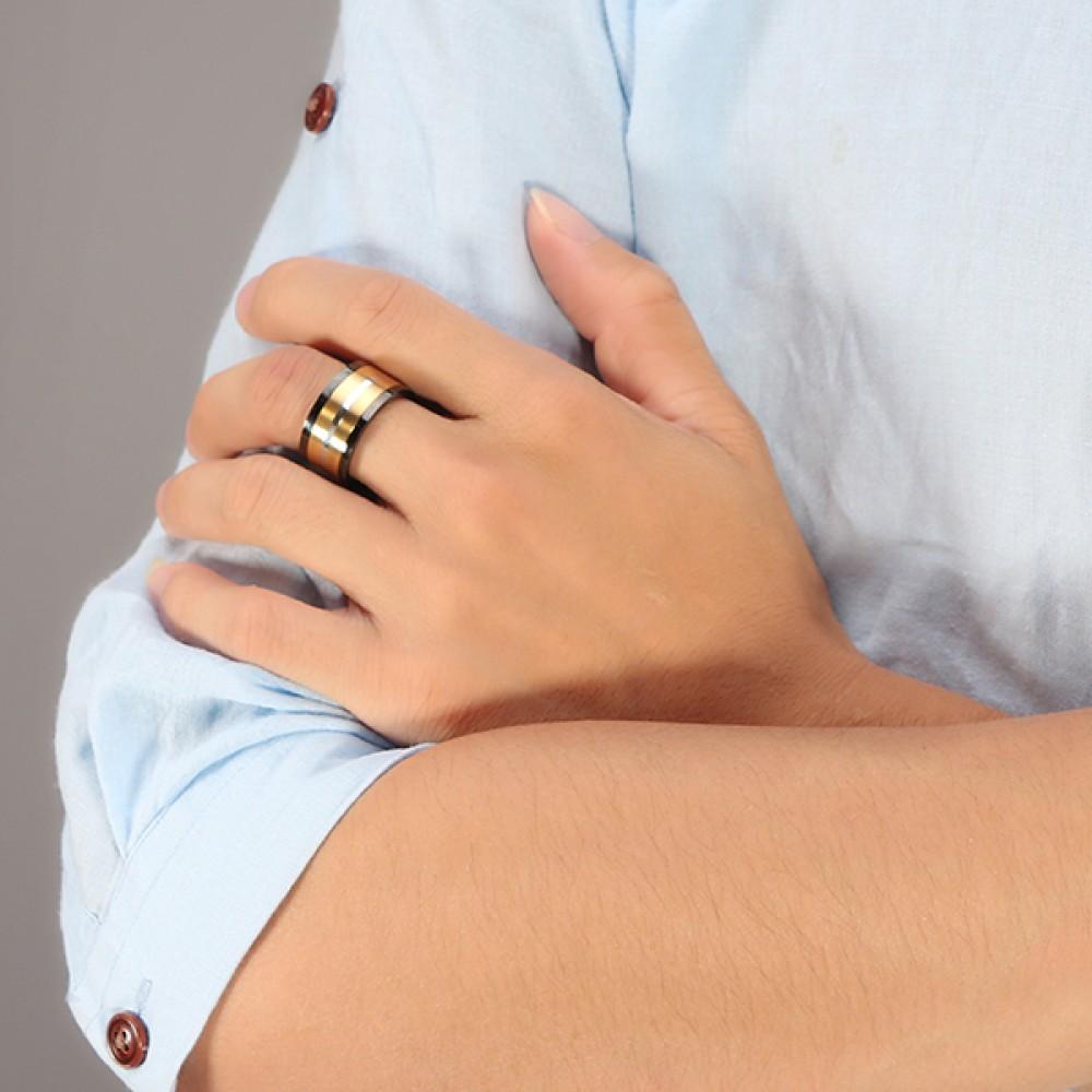 Inel Otel inoxidabil cu un design deosebit pentru barbati