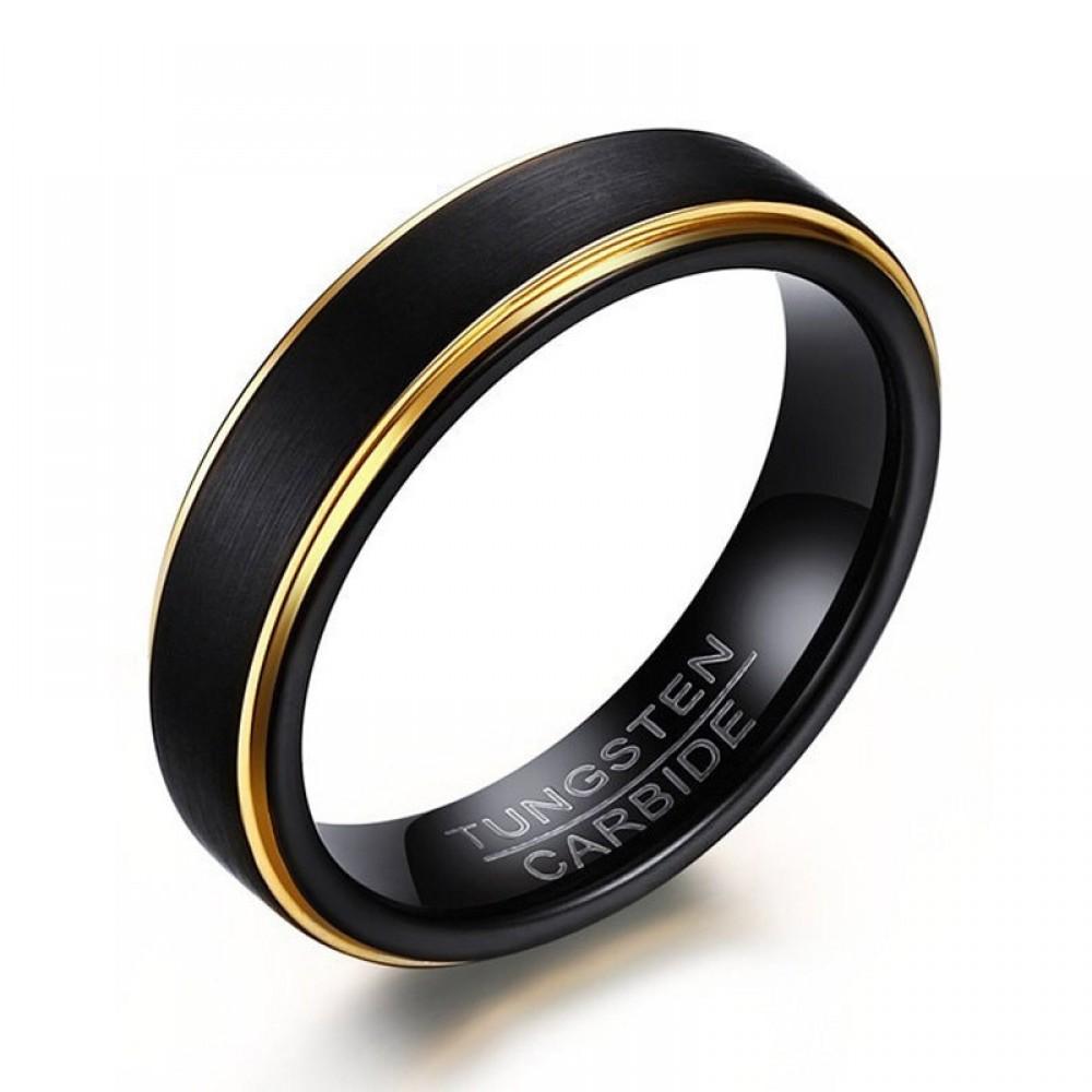 Inel din Tungsten  cu un design deosebit unisex