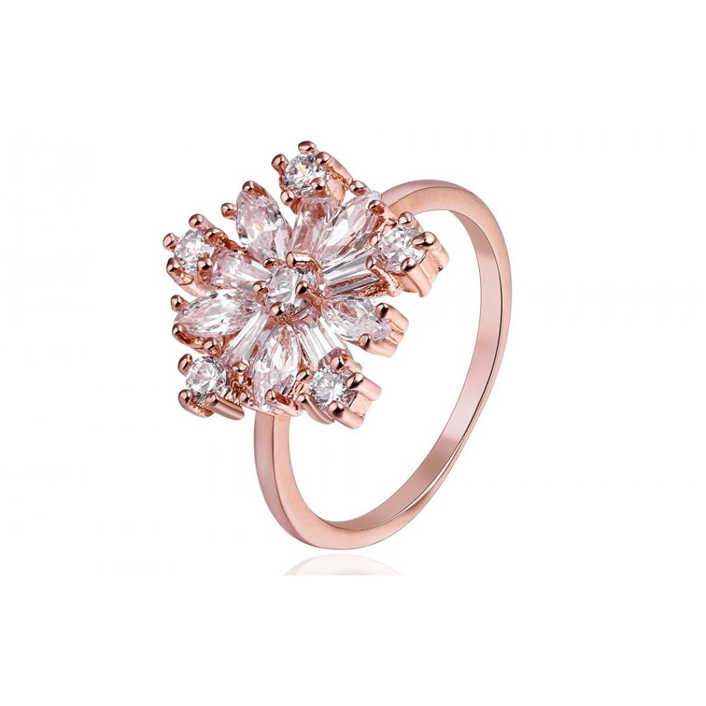 Inel Mirabella placat cu aur rose si pietre zirconiu